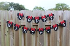 Hey, I found this really awesome Etsy listing at https://www.etsy.com/au/listing/268491082/minnie-banner-birthday-banner-first