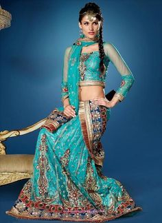 Looking So Good #EmbroideredSaree In Sky Blue Color