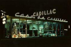 Cadillac Dealership Showroom Christmas 1956