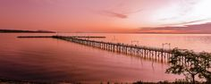 There was a lot of debris in the water to clean up in post production in this sunset panorama at White Rock pier. The sunsets are spectacular here in the summer! Vancouver City, British Columbia, Landscape Photography, Earth, Rock, Landscapes, World, Water, Beautiful Sky