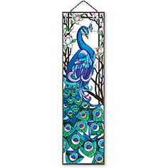 @Overstock.com.com.com - This art panel features a stunning peacock in all his vibrant glory. Rich colors and intricate detail make this hand-painted art glass piece a perfect gift or element of home decor for your window.http://www.overstock.com/Home-Garden/Joan-Baker-Hand-painted-Peacock-Art-Panel/6501832/product.html?CID=214117 $85.49