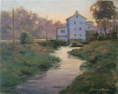 """Mill at Dusk,"" original oil painting, 12x16, Available at Rich Timmons Studio & Gallery, 3795gallery.com"