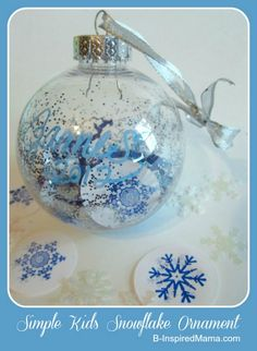 simple kids snowflake ornament