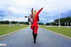 Gridgirl en maatkleding door vippromo tijdens tv opnames Galileo RTL5! Promotiekleding, promodame, promotiepak, gridgirl outfit, catsuit, skinsuit, promowear, custom made door VIP-Promo, lak, latex, promotieteam, griddames, pitspoezen, promobabes, promotieteams huren, hostess, www.vip-promo.nl & www.vip-promotiekleding.nl