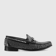 Gucci Horsebit studded leather loafer