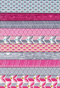 Joel Dewberry True Colors FUCHSIA Fat Quarter Gift Pack - QuiltHome