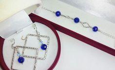 Conjunto pulsera y pendientes plata bolas cristal. arizzacrystal.simplesite.com arizzacrystal.blogspot.com