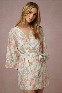 Painted Petal Robe in Bride Bridal Lingerie Chemises & Robes at BHLDN