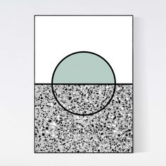 #terrazzo #poster by 5mm Paper. Terrazzo stone is combined with geometric graphic art. Very unique piece of wall art. Printed on 200 grams of high quality matte paper and available in sizes A3 (29.7 x 42 cm) A2 (42 x 59.4 cm). Frame not included.