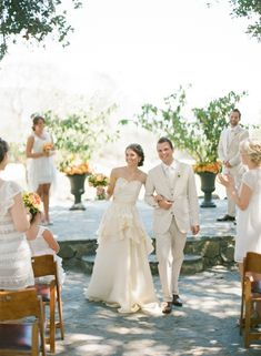 Rustic Wedding in Napa. I love everything about this, the dress (Leanne Marshall) , the colors, the settings.