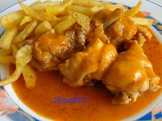 Pollo en salsa en olla rápida