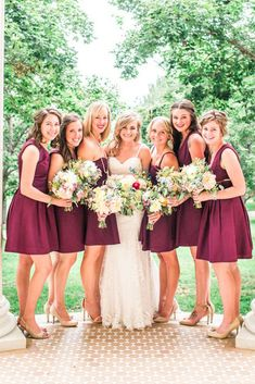 18 Burgundy Bridesmaid Dresses For Your Girls ❤ burgundy bridesmaid dresses shorth modest sleeveless erin l taylor photography ❤ Full gallery: https://weddingdressesguide.com/burgundy-bridesmaid-dresses/ #bride #wedding #bridesmaiddress