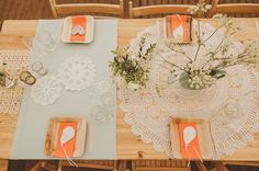 wow, these mix and match doilies as table decor are just perfect | UK kid-friendly wedding | www.greenweddingshoes.com | #tablescape #tablesetting #summerwedding