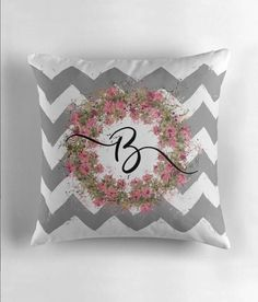 Cuddle up to Designer Pillows by SteadyThreadsStudio Sophisticated take on Designer Pillows, Signature Style monogrammed decor, monogrammed pillows.