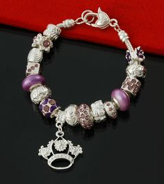 8e1bfcdf2 Shotcost.com: crown charm Glass Beads Bracelets Pandora Charms, Glass Beads