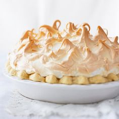 Bring this gorgeous Chocolate Meringue Pie to your next get-together! Recipe: www.bhg.com/recipe/pies/chocolate-meringue-pie/?socsrc=bhgpin062912