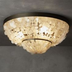 capiz flush mount lamp | CB2