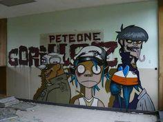 Resultado de imagem para grafite gorillaz
