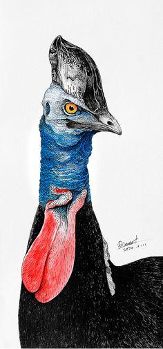 my way by Rlon Wang, via Behance Bird Artwork, Color Pencil Art, Whimsical Art, Beautiful Birds, Animal Drawings, Colored Pencils, Animals And Pets, Graffiti, Illustration Art