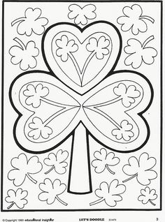 Lets Doodle Coloring Pages Coloring Book Pages, Printable Coloring Pages, Coloring Sheets, Saint Patricks Day Art, St Patricks Day Crafts For Kids, Doodle Coloring, Coloring Pages For Kids, Kids Coloring, Doodle Books
