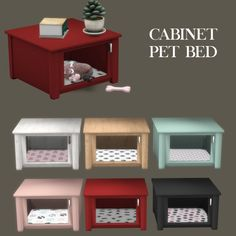 Sims 4 Updates: Leo Sims - Pets, Objects / Furniture : Cabinet Pet Bed, Custom Content Download!