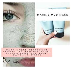 Pulls out impurities and oil. Marine Mud Mask, Dark Spots, Anti Aging Skin Care, Oil, Beauty, Beleza, Cosmetology, Stains, Dark Stains