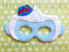 Flying Monkey Mask Embroidery Design monkey by HungryPandaSupplies