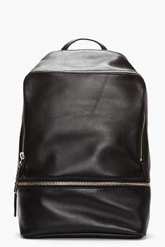 3.1 PHILLIP LIM Black Leather Zip Around Backpack