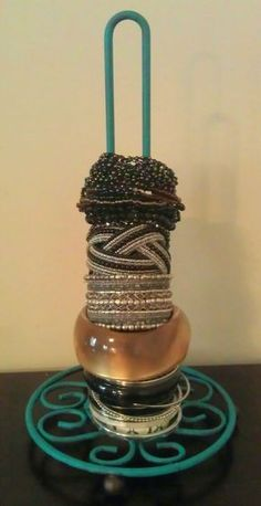 Spray paint a towel holder and use it for your bracelets