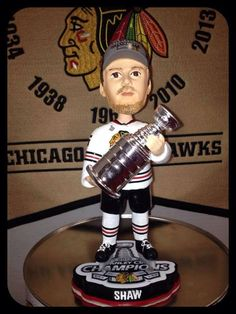 Andrew Shaw Chicago Blackhawks 2013 Stanley Cup Champions Bobblehead-White