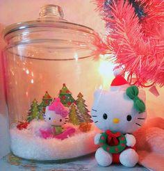 Hello Kitty Christmas snow globe
