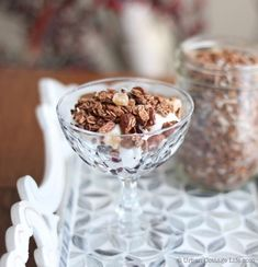 Chocolate Ginger Granola: An Indulgent Experience | Urban Cottage Life Urban Cottage, Sour Cherry, Granola, Cocoa, Chocolate, Baking, Breakfast, Recipes, Life