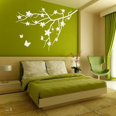 Most Unique Master Bedroom Ideas For Couples to add to your own home 160 Green Bedroom Walls, Green Bedroom Decor, Baby Room Decor, Home Decor Bedroom, Bedroom Ideas, Master Bedroom, Drawing Room Wall Colour, Room Wall Colors, Bedroom Colors