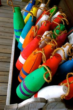 colorful nautical markers or floats