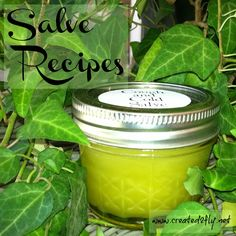 Salve Recipes using Essential Oils -  Links here to all your favorites!