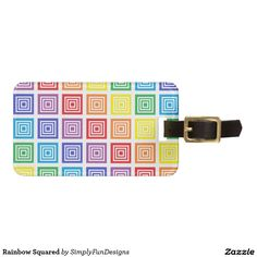 Rainbow Squared Tag For Luggage