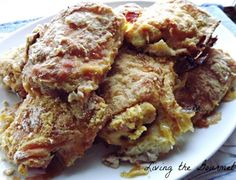 ... Recipes Online: Oven Fried Chicken Thighs with Flour and Cornmeal