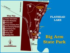 Clear map and map key of Park camping grounds. Yurt Camping, Group Camping, Flathead Lake Mt, State Parks, Bigger Arms, Park Around, Picnic Area, Hiking Trails, Travel Usa
