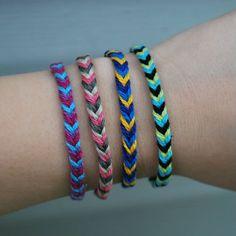 Super fast and easy fishtail braid friendship bracelet.