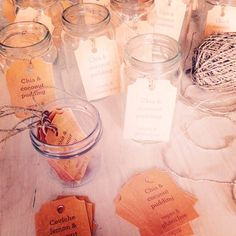 Labelling jars in preparation for last night's book launch Reclaim That #upcycling #homemade #recycled #jars #party #mynewbook  I made these tags using my Brother ScanNCut  #reclaimthat #Sarah_Heeringa