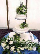 Spring Flowers 3-tier Wedding Cake