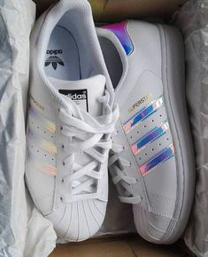 new style bfe4e c0a4a  floralraine ღ Iridescent Adidas, Nike Running Shoes Women, Adidas Shoes  Women,