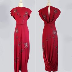 vintage 1940s dress // 40s evening gown // sequined by LeMollusque,   http://www.etsy.com/listing/92298199/vintage-1940s-dress-40s-evening-gown