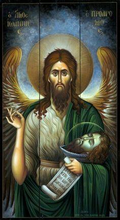 Saint John The Baptist Religious Images, Religious Icons, Religious Art, Orthodox Catholic, Catholic Art, Byzantine Icons, Byzantine Art, Christian Artwork, Best Icons