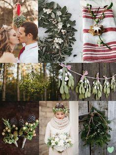 Mistletoe Wedding Decor Ideas Mood Board from The Wedding Community