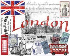 London Print By Jean Plout