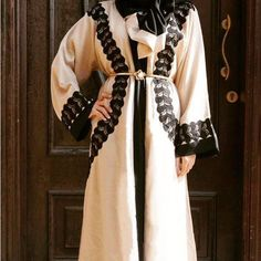 Beige abaya limited pieces .