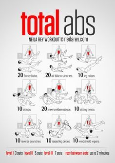 Neila Rey Total Abs for me Total Abs, Total Ab Workout, Abb Workouts, Killer Ab Workouts, Ab Workout Men, Lower Ab Workouts, At Home Workouts, Insanity Workout, Core Workouts For Men