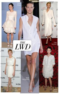 Little White Dress #fashion #harpersbazaar #whitedress #couture #trend