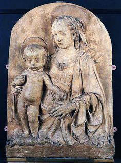 Madonna and Child - statue by Andrea Verrocchio, 1470 - at the Birmingham Museum